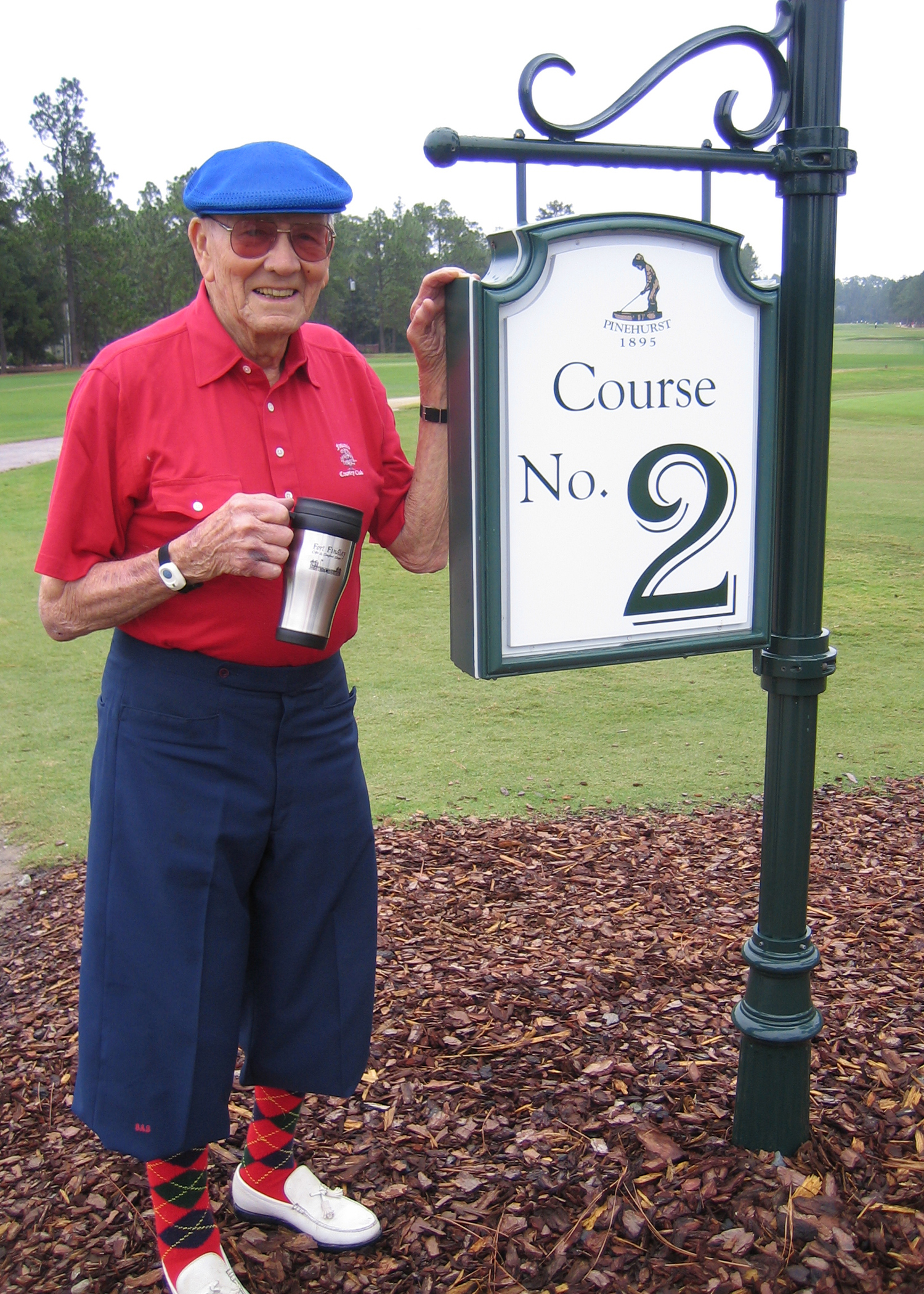 Grandpa in Pinehurst