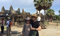 Mom at Angkor Wat Cambodia