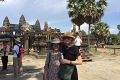 Mom at Angkor Wat Cambodia