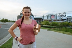 Regan at the Broncos Stadium in Denver